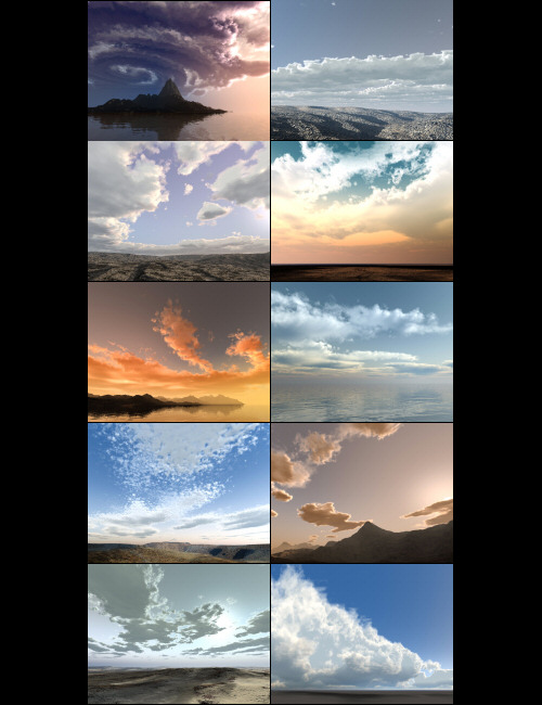 Bryce Pro Cloudscapes 3 by: David Brinnen, 3D Models by Daz 3D