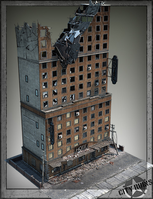 City Ruins Building 02 by: Stonemason, 3D Models by Daz 3D
