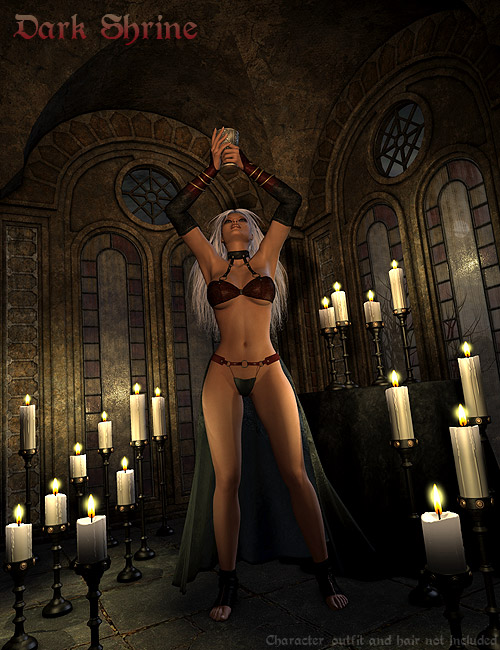 DMs Dark Shrine by: Daniemarforno, 3D Models by Daz 3D