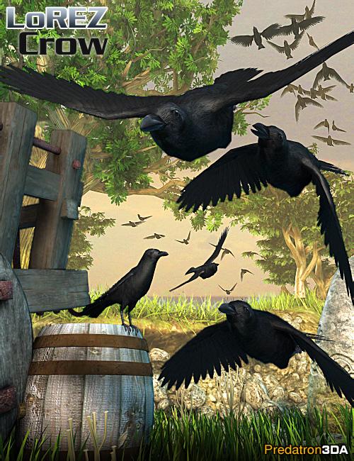 LoREZ Crow by: Predatron, 3D Models by Daz 3D