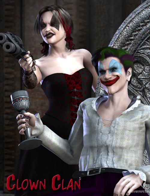 The Clown Clan by: RawArt, 3D Models by Daz 3D