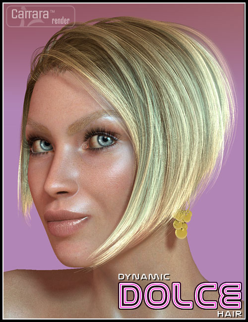 Dynamic Dolce Hair for V4 by: 3DCelebrity, 3D Models by Daz 3D