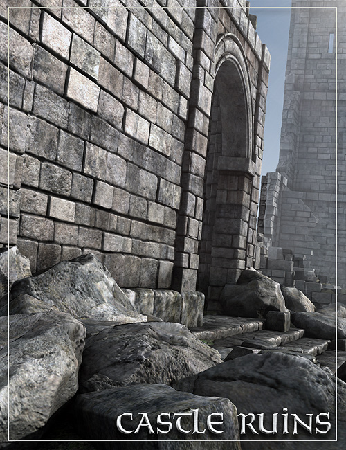 Castle Ruins by: Stonemason, 3D Models by Daz 3D