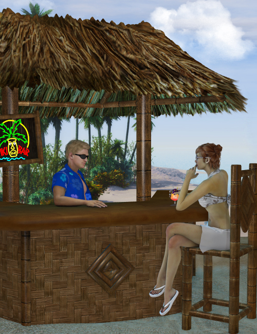 Tiki Bar by: Ryverthorn, 3D Models by Daz 3D