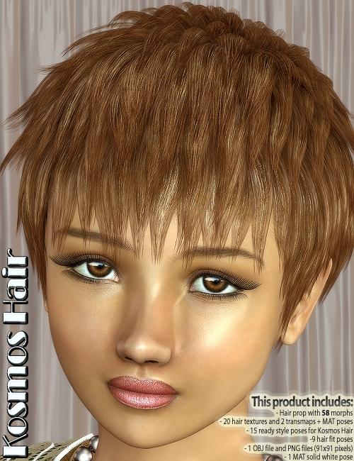 Kosmos Hair by: 3DreamMairy, 3D Models by Daz 3D