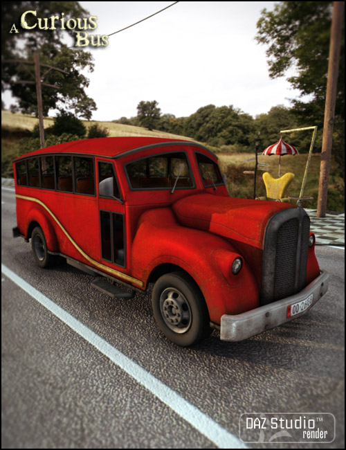 A Curious Bus by: Jack Tomalin, 3D Models by Daz 3D