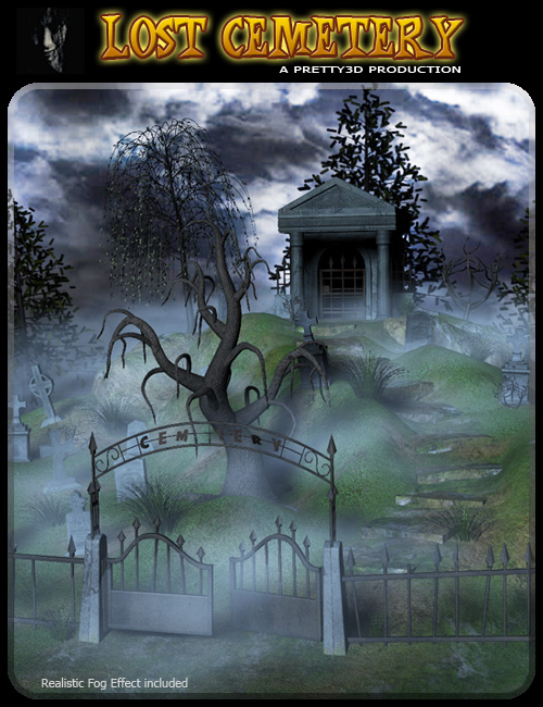 Lost Cemetery by: Pretty3D, 3D Models by Daz 3D