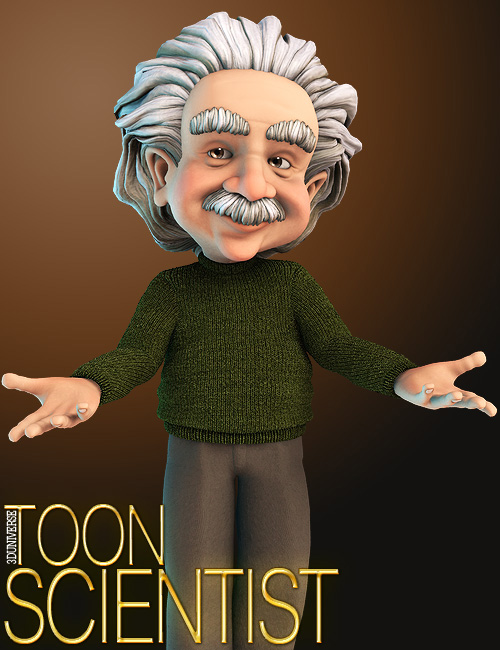 Toon Scientist by: 3D Universe, 3D Models by Daz 3D