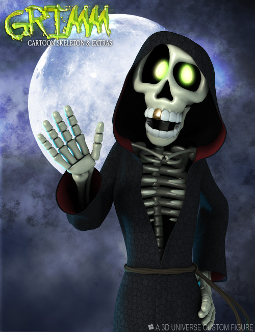 GRIMM The Toon Skeleton by: 3D Universe, 3D Models by Daz 3D