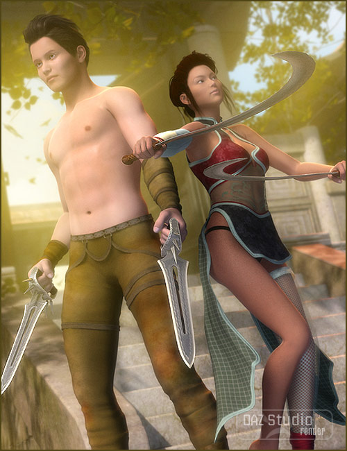 More Deadly Edges by: blondie9999, 3D Models by Daz 3D