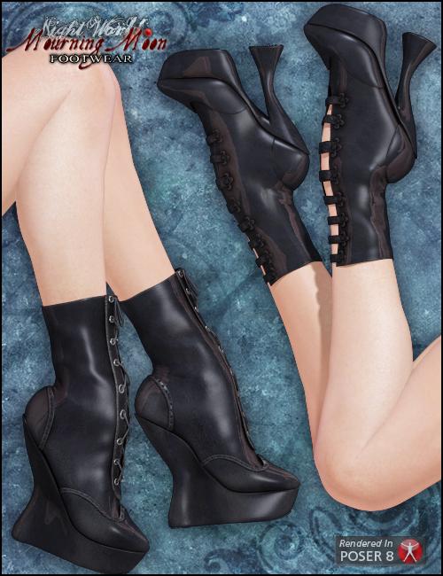 Mourning Moon Footwear by: Arien, 3D Models by Daz 3D