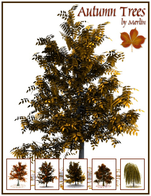 Autumn Trees by Merlin by: Merlin Studios, 3D Models by Daz 3D