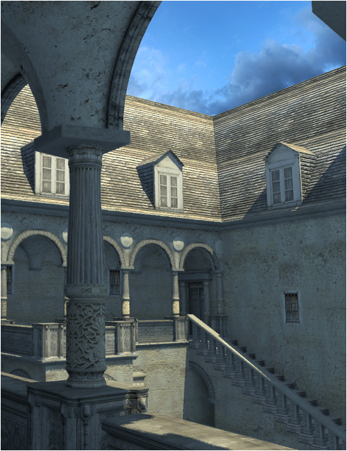 Castle Courtyard by: SoulessEmpathy, 3D Models by Daz 3D