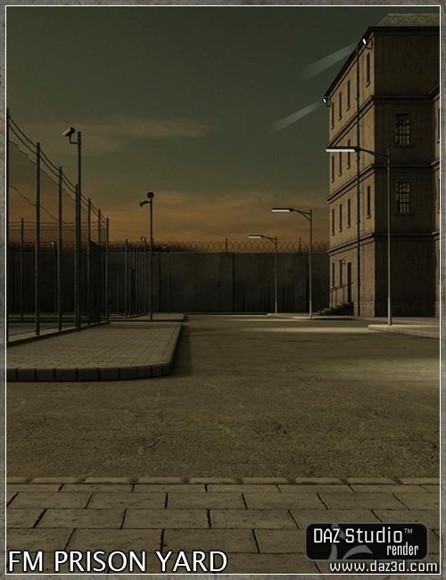 Prison Yard by: Flipmode, 3D Models by Daz 3D