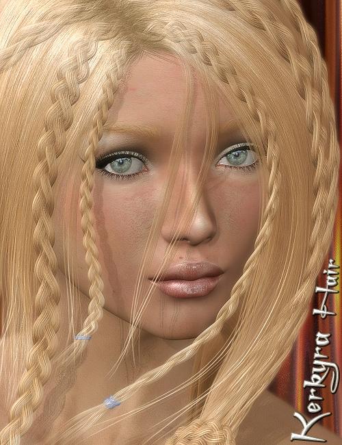 Kerkyra Hair by: 3DreamMairy, 3D Models by Daz 3D