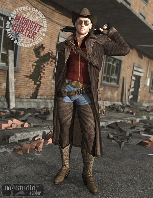 Midnight Hunter for Michael 4 by: Luthbel, 3D Models by Daz 3D