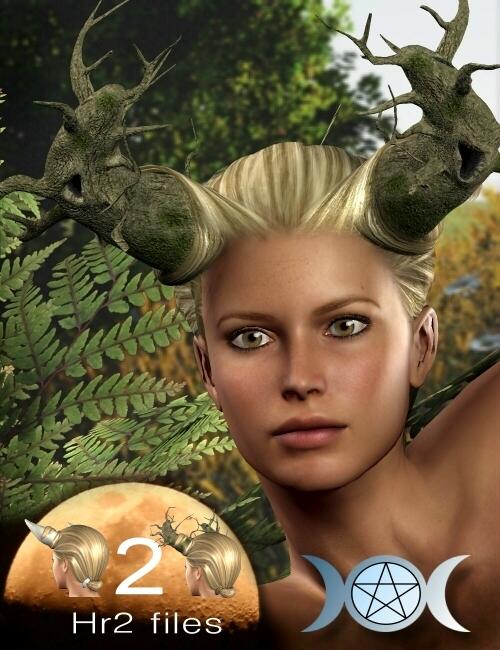 Wiccanya Hair Pack by: Neftis3D, 3D Models by Daz 3D
