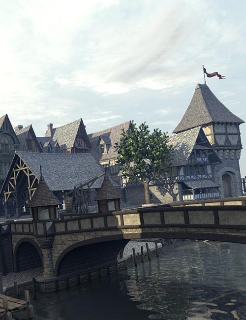 Medieval Docks by: Faveral, 3D Models by Daz 3D