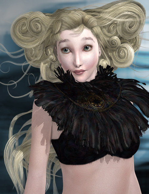 Calais Hair and Ruff by: AprilYSH, 3D Models by Daz 3D