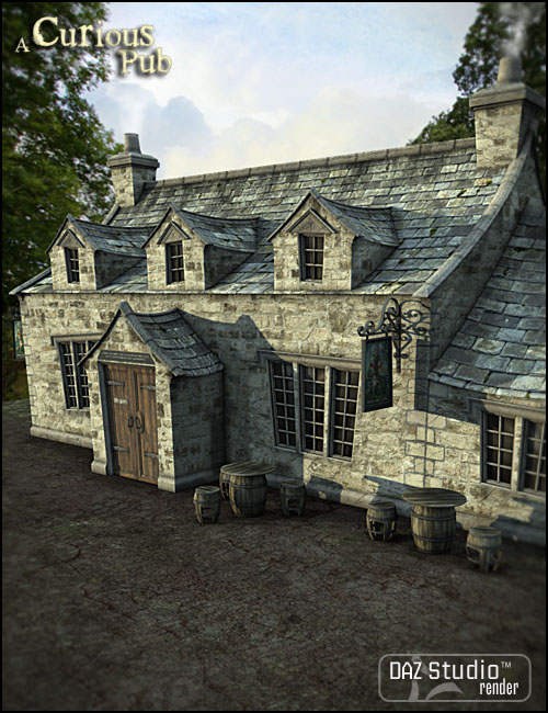 A Curious Pub by: Jack Tomalin, 3D Models by Daz 3D