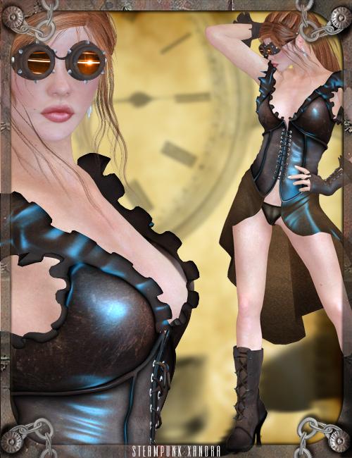 Steam Punk Xandra by: Orion1167, 3D Models by Daz 3D