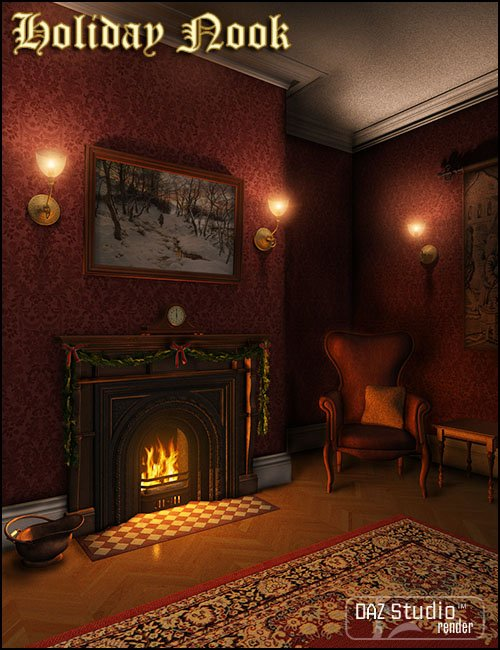 Holiday Nook by: Jack Tomalin, 3D Models by Daz 3D