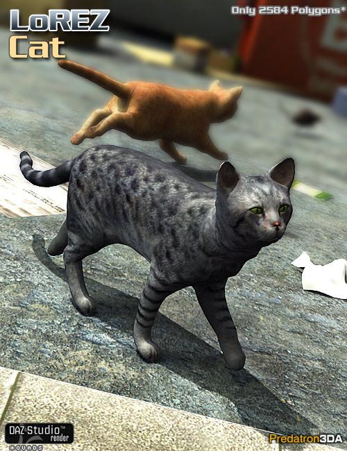 LoREZ Cat by: Predatron, 3D Models by Daz 3D