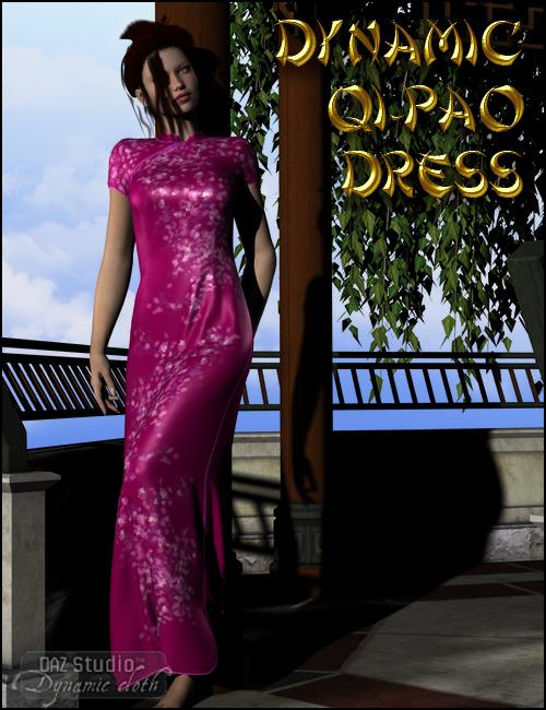 Dynamic Qi Pao Dress by: DraagonStormOptiTex, 3D Models by Daz 3D