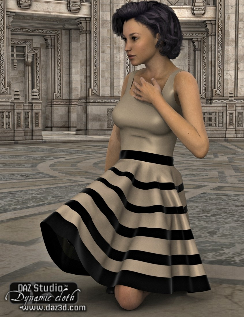 Dynamic Circle Skirt by: OptiTexKhory, 3D Models by Daz 3D