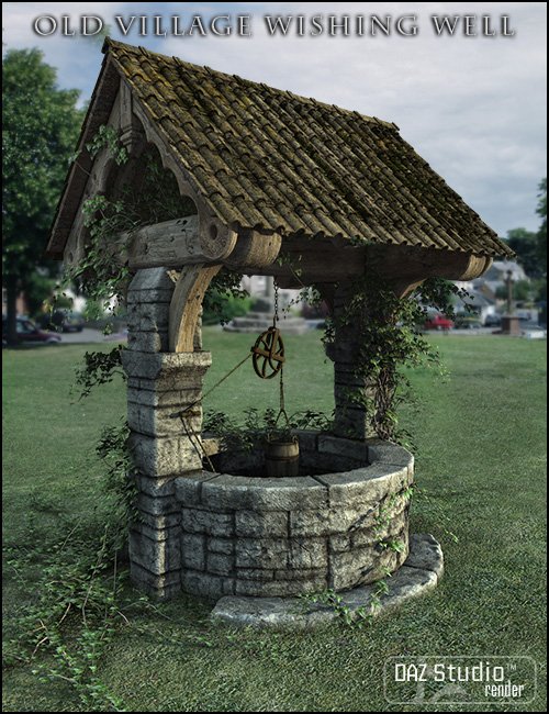 Old Village Wishing Well by: Jack Tomalin, 3D Models by Daz 3D