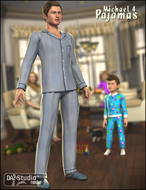 Pajamas for M4 by: Ravenhair, 3D Models by Daz 3D