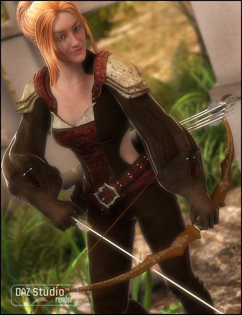 V4 Archer by: Barbara Brundon, 3D Models by Daz 3D