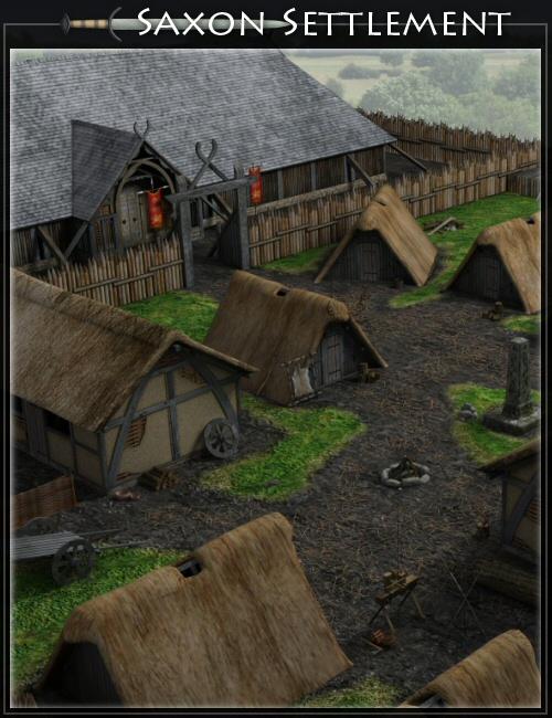 Saxon Settlement by Merlin by: Merlin Studios, 3D Models by Daz 3D