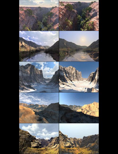 Bryce Pro IBL v TA Landscapes by: David Brinnen, 3D Models by Daz 3D