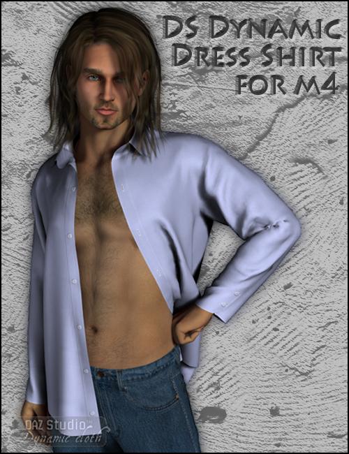 DS Dynamic Dress Shirt for M4 by: DraagonStormOptiTex, 3D Models by Daz 3D