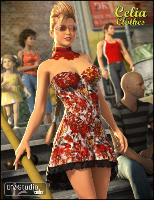 Celia Clothes by: , 3D Models by Daz 3D