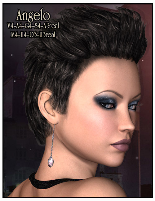 Angelo Hair by: SWAM, 3D Models by Daz 3D