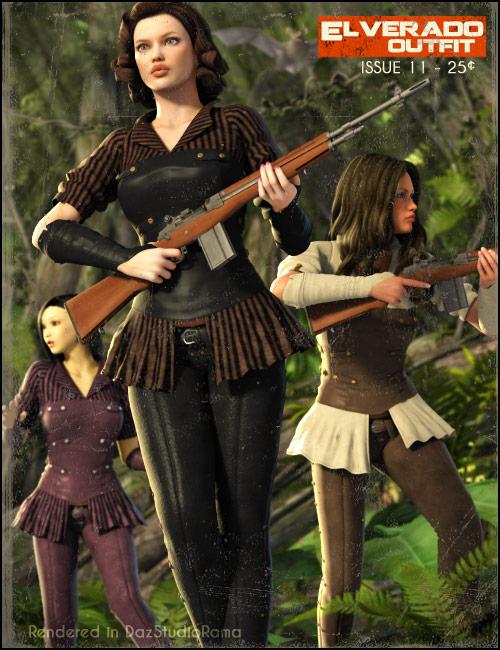 The Elverado Outfit by: Daz OriginalsSilencerSWAM, 3D Models by Daz 3D