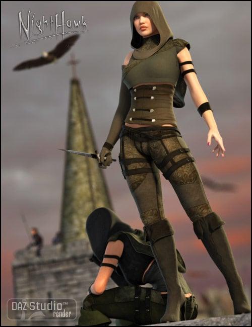 Nighthawk for V4 by: Barbara Brundon, 3D Models by Daz 3D
