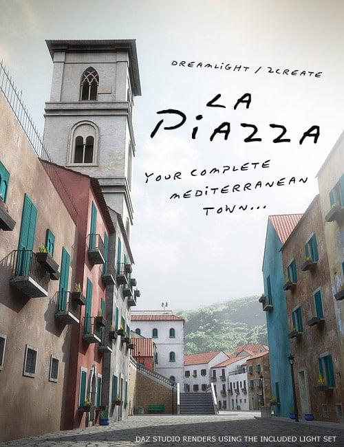La Piazza Realistic Mediterranean Town by: Dreamlight2 create HB, 3D Models by Daz 3D