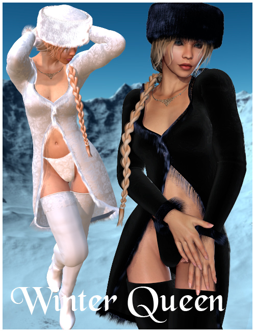 Winter Queen Outfit by: Nathy, 3D Models by Daz 3D