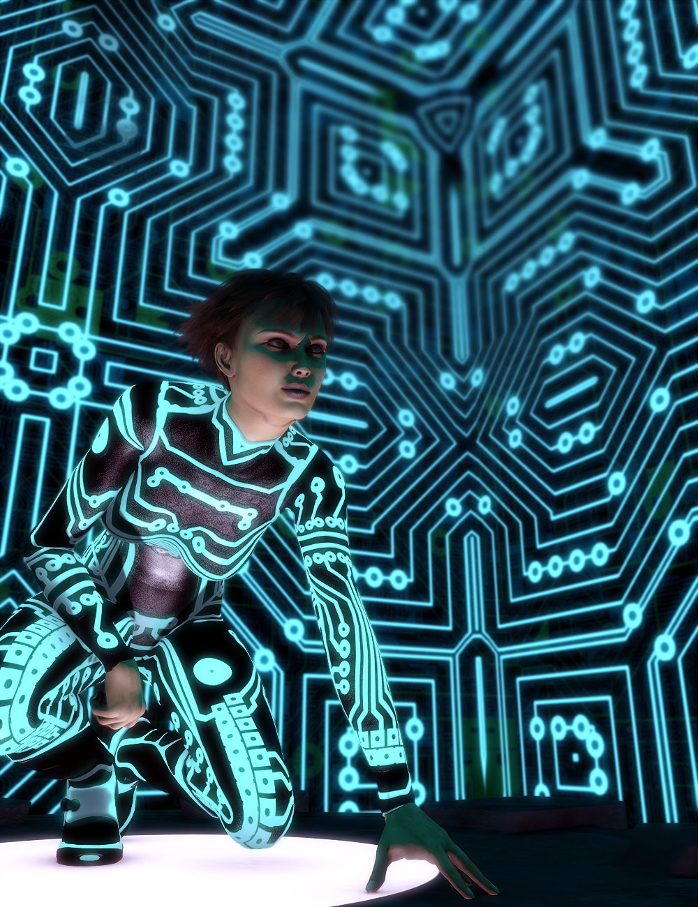 Cyber Circuit Brushes by: Orestes Graphics, 3D Models by Daz 3D