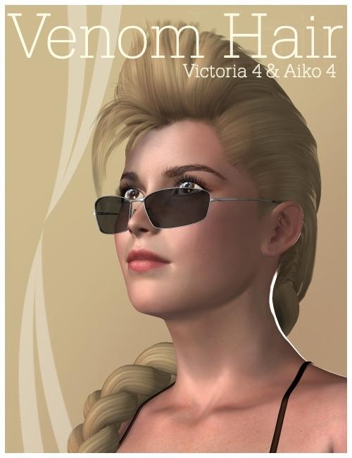 Venom Hair by: KookNfat, 3D Models by Daz 3D
