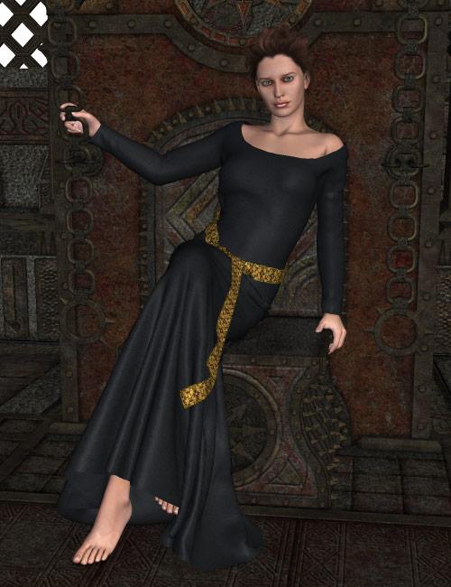 Maiden Fair Dynamic Gown for Poser by: KhoryFisty & DarcOptiTex, 3D Models by Daz 3D