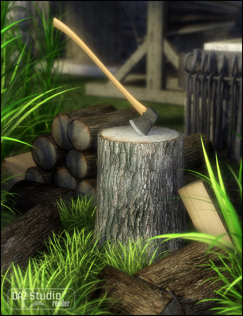 Wood Chopping Kit by: , 3D Models by Daz 3D