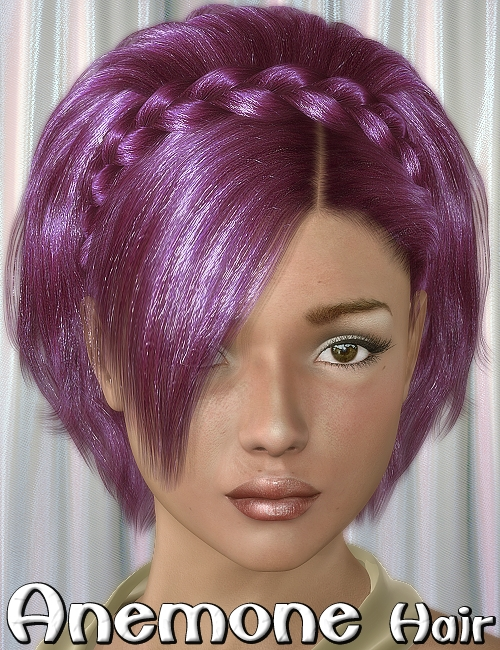 Anemone Hair by: 3DreamMairy, 3D Models by Daz 3D