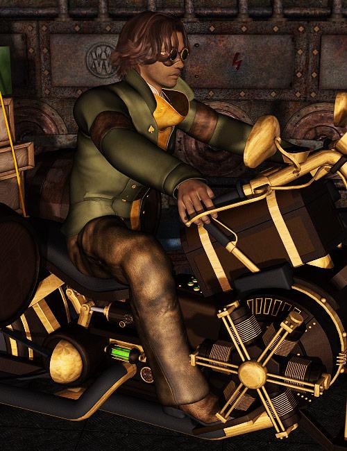Steam Bike Pro by: LesthatVal3dart, 3D Models by Daz 3D