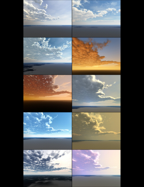Bryce Pro Cloudscapes 5 - Example One by: David Brinnen, 3D Models by Daz 3D