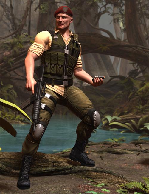 Veteran War Dog for M4 by: Luthbel, 3D Models by Daz 3D