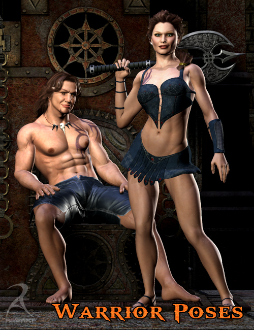 Raw Warrior Poses by: RawArt, 3D Models by Daz 3D